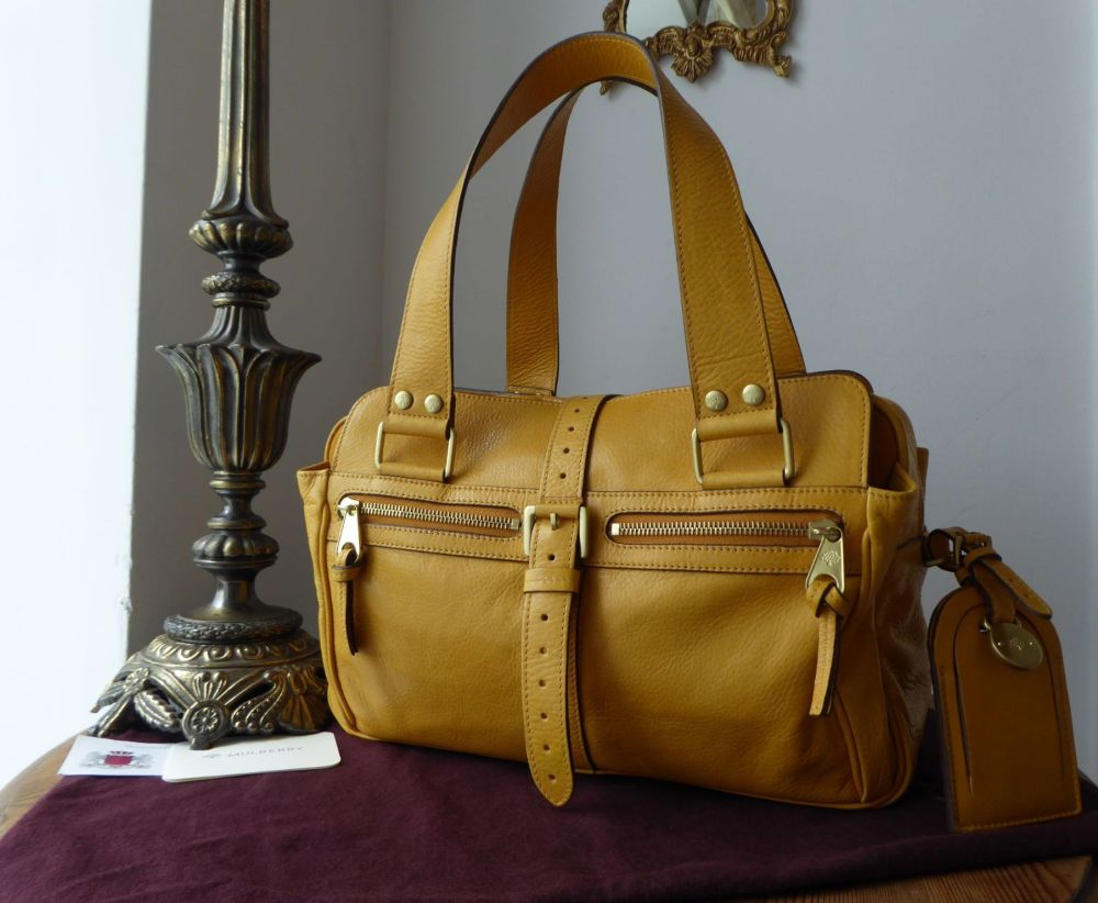 Mulberry Medium Mabel in Butterscotch Soft Spongy Leather