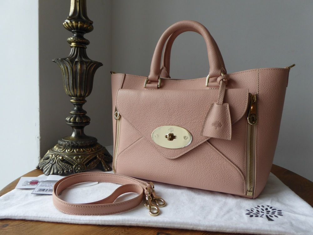 Mulberry Small Willow Tote in Ballet Pink Grainy Calf Leather