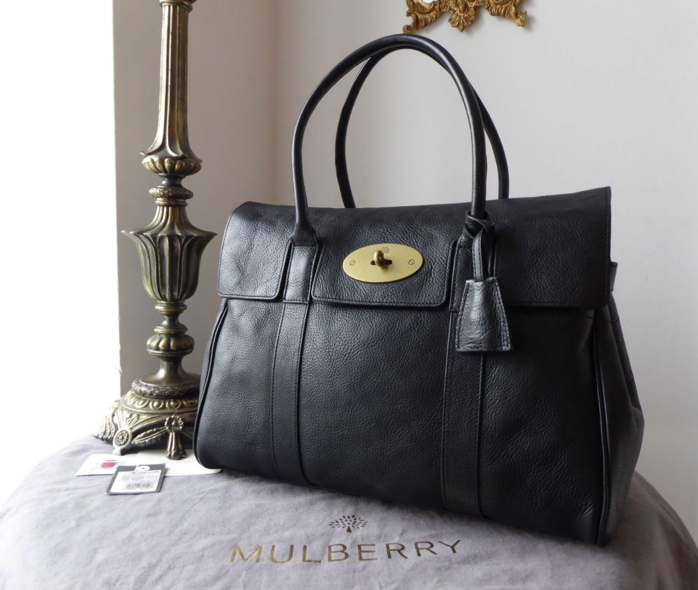 Mulberry Classic Heritage Bayswater in Black Natural Leather