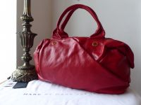 Marc by Marc Jacobs Pleaty Bauletto in Lipstick Red Glazed Leather