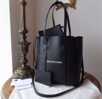 Balenciaga Everyday XS Leather Tote in Smooth Black Calfskin - New