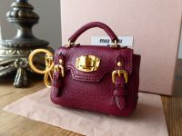 Miu Miu Micro Bag Keyring Bag Charm in Claret