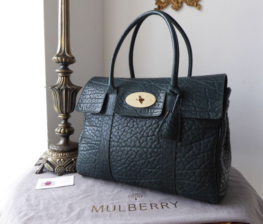 Mulberry Classic Heritage Bayswater in Pheasant Green Shrunken Calf Leather