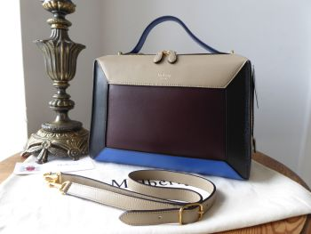 Mulberry Hopton in Dune, Oxblood, Black & Blue Smooth Calf - New