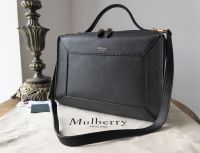 Mulberry Hopton in Black Small Classic Grain  - New