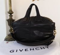 Givenchy Ring Embellished Medium Nightingale Tote in Black Glazed Goatskin