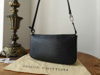 Louis Vuitton Pochette Accessoires NM in Epi Noir with Shiny Silver Hardware - As New*