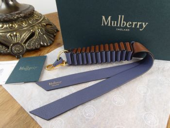Mulberry Twist Keyring or Bag Charm in Elephant and Tan Silky Calf