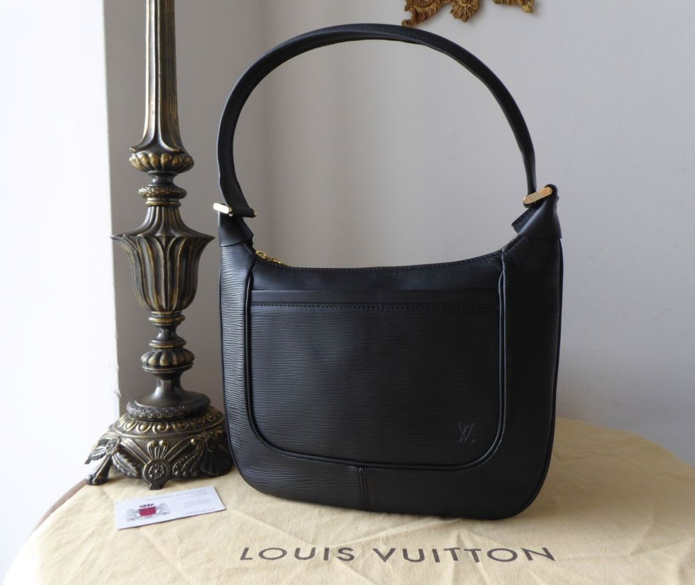 Louis Vuitton Matsy Shoulder Bag in Epi Noir