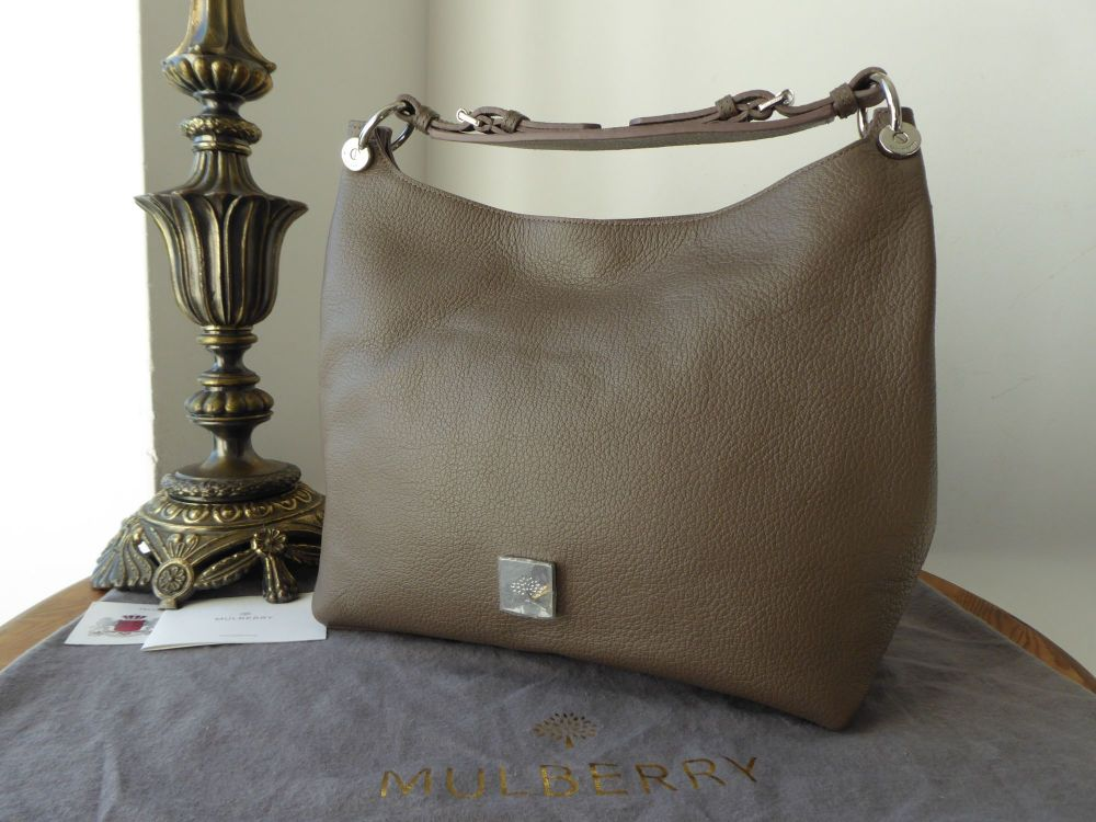 Mulberry Freya Smaller Sized Hobo in Taupe Goat Printed Calf without Should