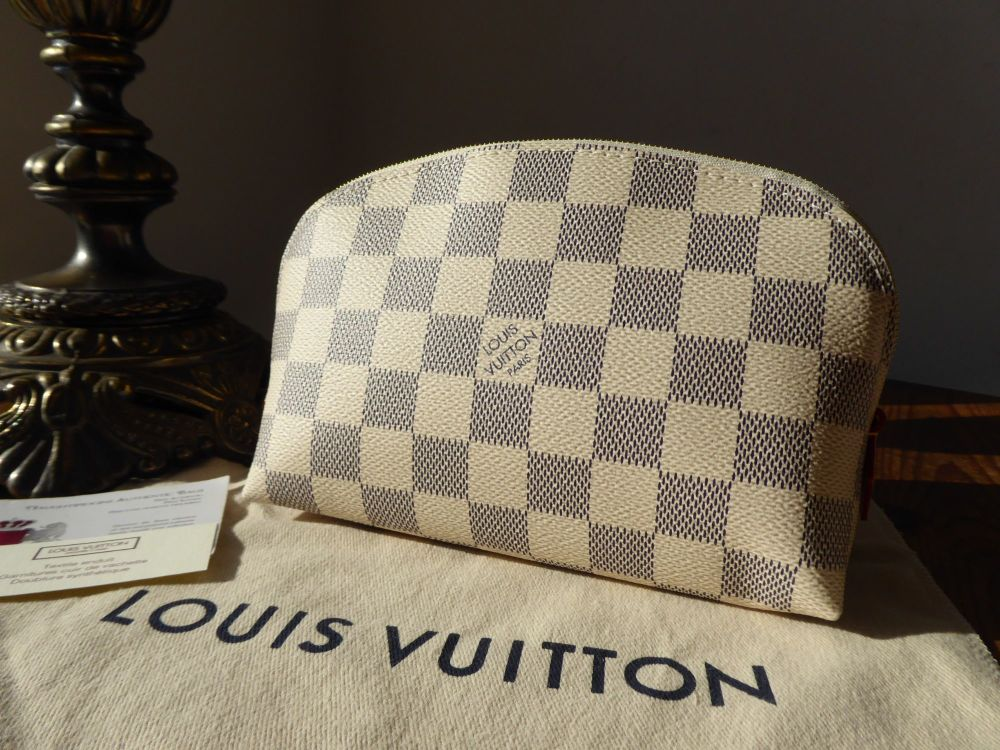 Louis Vuitton Cosmetic Pouch in Damier Azur New