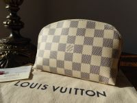 Louis Vuitton Cosmetic Pouch in Damier Azur - New