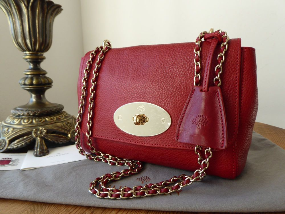 Mulberry Regular Lily in Poppy Red Natural Leather - As New