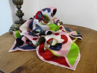 Fendi Flowerland Silk Square Scarf in Pink Multicolore