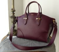 Alexander McQueen Large Legend Tote in Burgundy Calfskin - New*
