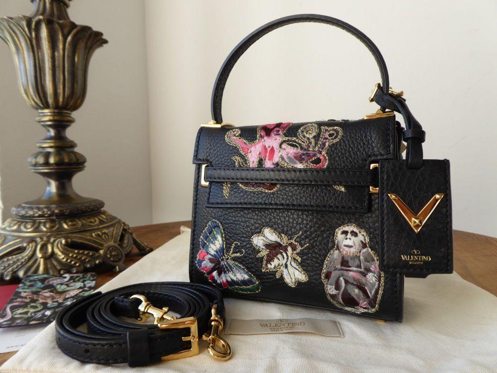 Valentino Animali Fantastici Embroidered My Rockstud Micro Tote Bag