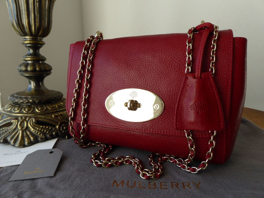 Mulberry Regular Lily in Poppy Red Natural Leather