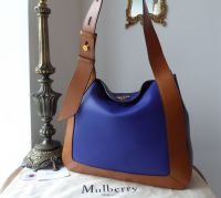 Mulberry Marloes Hobo in Indigo and Tan Smooth Calf Leather - New