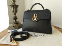 Mulberry Mini Seaton in Black Small Classic Grain