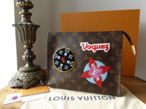 Louis Vuitton Limited Edition Toiletry 26 Pouch in Monogram Patches and Sti