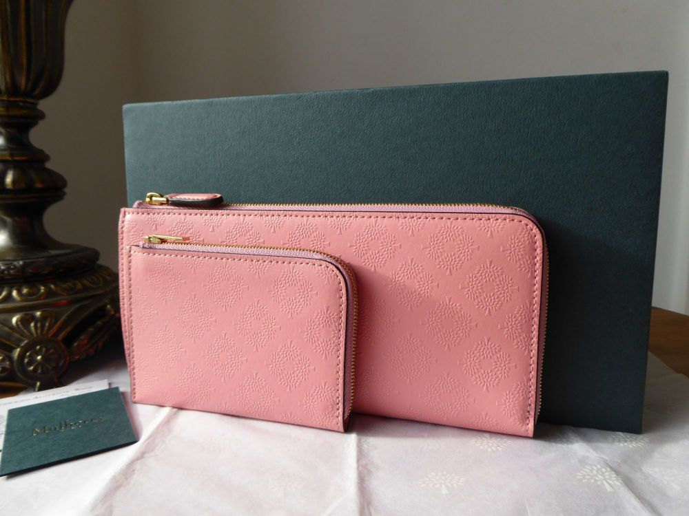 Mulberry Long Part Zip Around Continental Purse and Coin Pouch in Macaroon