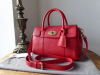 Mulberry Classic Small Bayswater Satchel in Hibiscus Small Classic Grain
