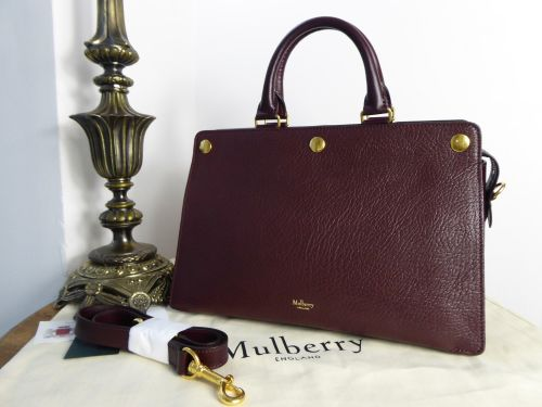 Mulberry Chester in Burgundy Textured Goat - New*