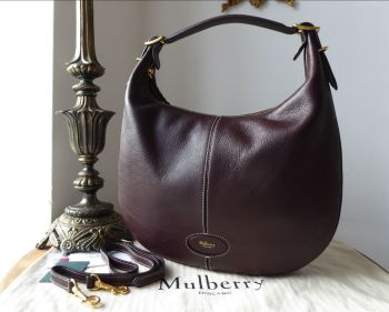 Mulberry Small Selby in Oxblood Silky Calf Leather & Felt Liner