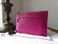 Mulberry Multi Zip Pouch in Pink Glossy Goat Leather