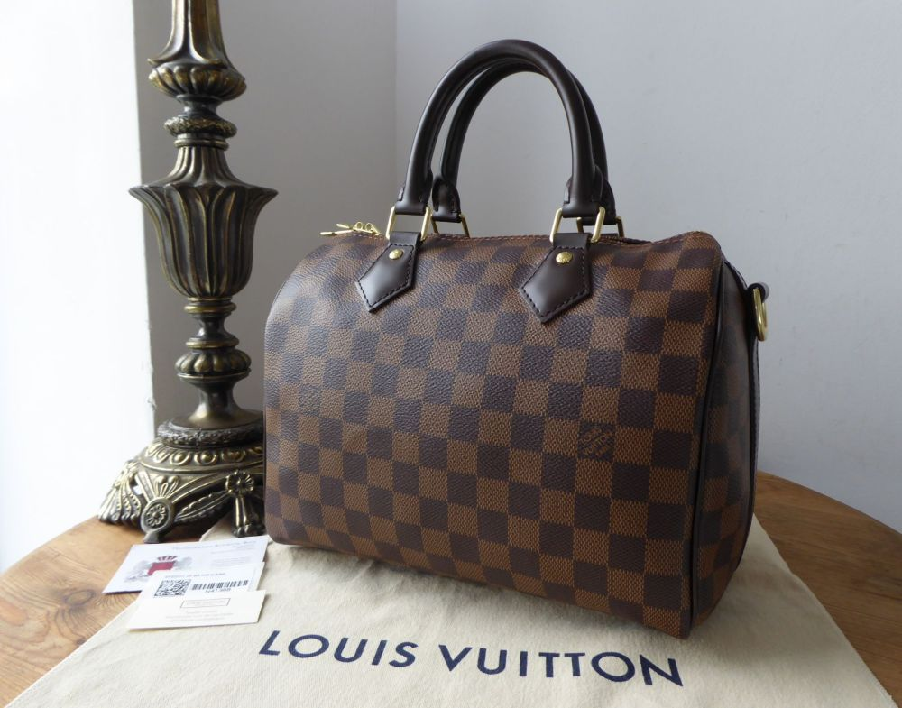 Louis Vuitton Speedy Bandouliere 25 in Damier Ebene without Shoulder Strap