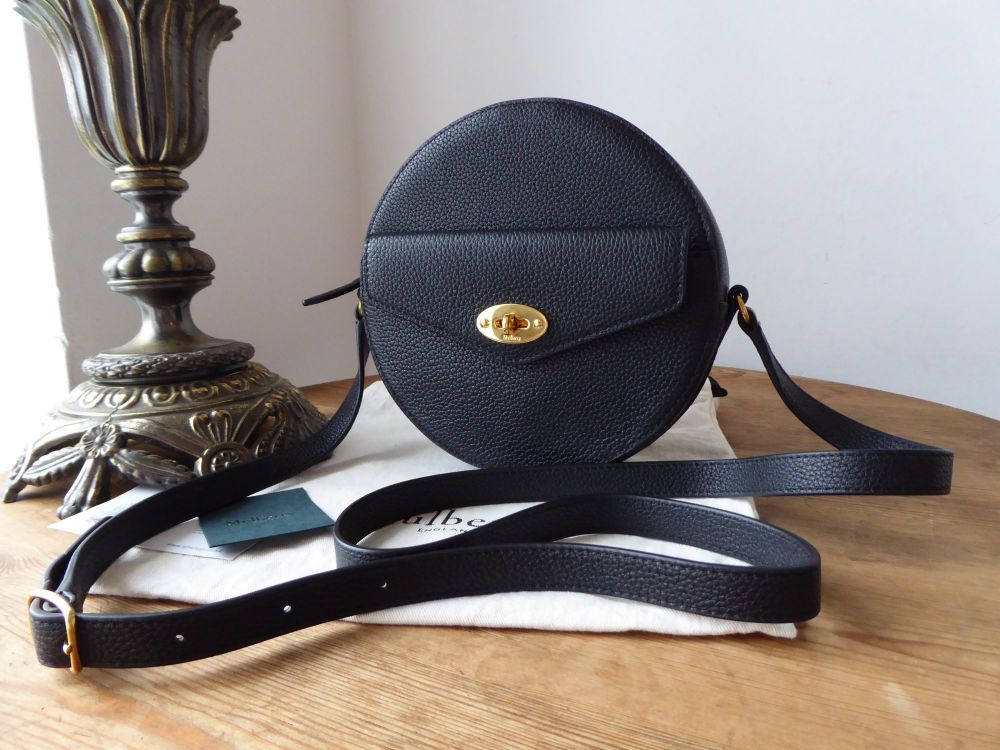 Mulberry Small Darley Round Shoulder Clutch in Black Small Classic Grain