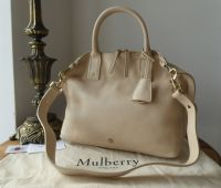 Mulberry Small Alice Zipped Tote in Buttercream Small Classic Grain - New*