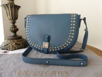 Mulberry Tessie Rivet Satchel in Steel Blue Small Soft Grain Leather