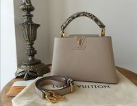 Louis Vuitton Capucines BB in Galet Python - New
