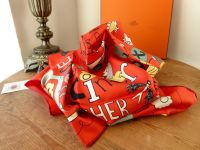 Hermés Limited Edition Silk Scarf Carre 90cm 'Les Confessions' French Scholarship Foundation - New