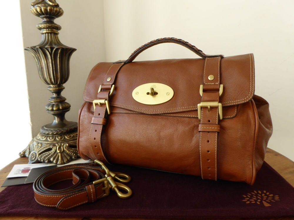 Mulberry Regular Alexa Satchel in Oak Soft Buffalo Leather