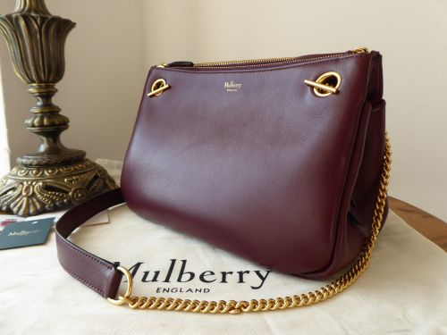 Mulberry Winsley in Burgundy Smooth Calf - As New*