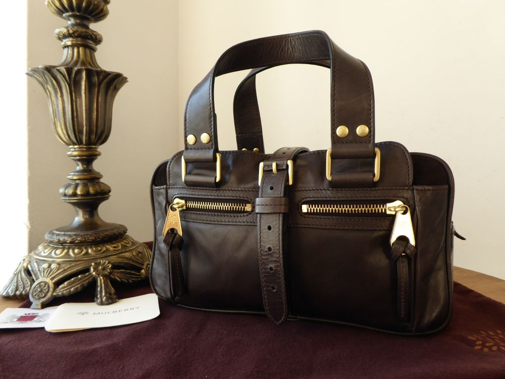 Mulberry Small Mabel in Chocolate Lightweight Antique Leather