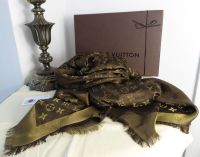Louis Vuitton Monogram Shine Shawl Marron Bronze