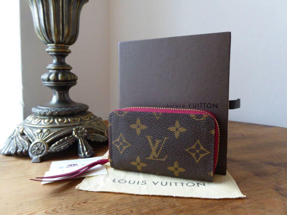 Louis Vuitton Zippy Multicarte in Fuschia and Monogram - As New