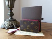 Louis Vuitton Zippy Multicarte in Fuschia and Monogram - As New