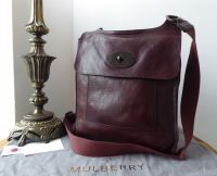 Mulberry Anthony Larger Sized Messenger in Oxblood Natural Leather with Dark Gunmetal Hardware