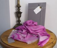Mulberry 100% Cashmere Tamara Wrap in Mulberry Pink - New*