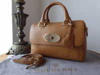 Mulberry Small Del Ray in Deer Brown Glossy Goat Leather