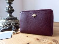 Mulberry Tree Small Zip Around Purse in Oxblood Coloured Vegetable Tanned Leather - As New