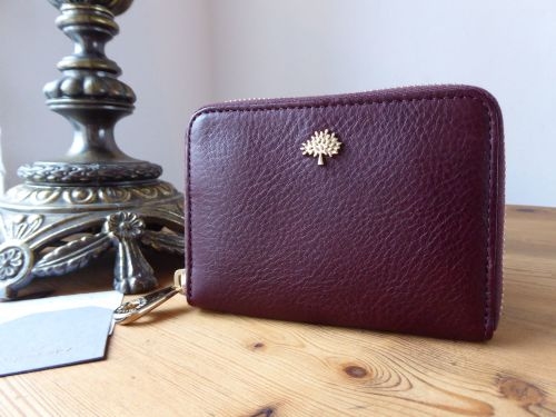 e2e9aa175860 Mulberry Tree Small Zip Around Purse in Oxblood Coloured Vegetable Tanned L