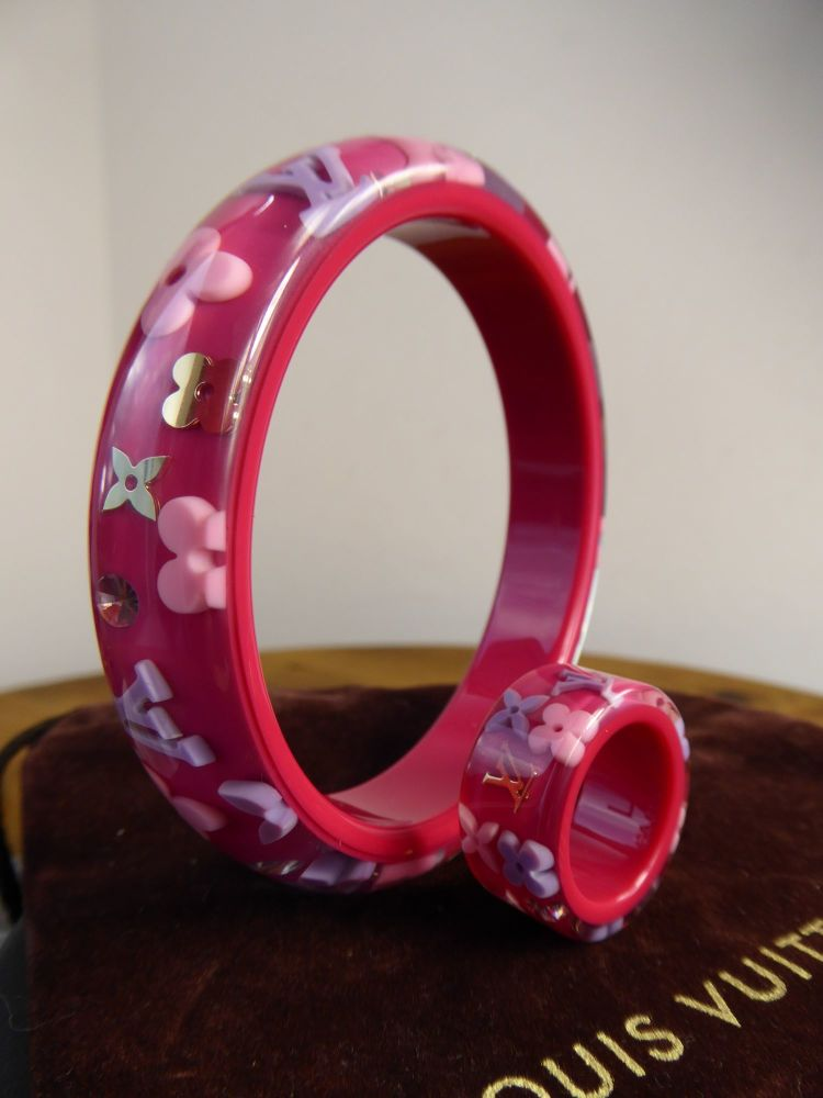 Louis Vuitton Inclusion Bracelet and Farandole Ring in Pink