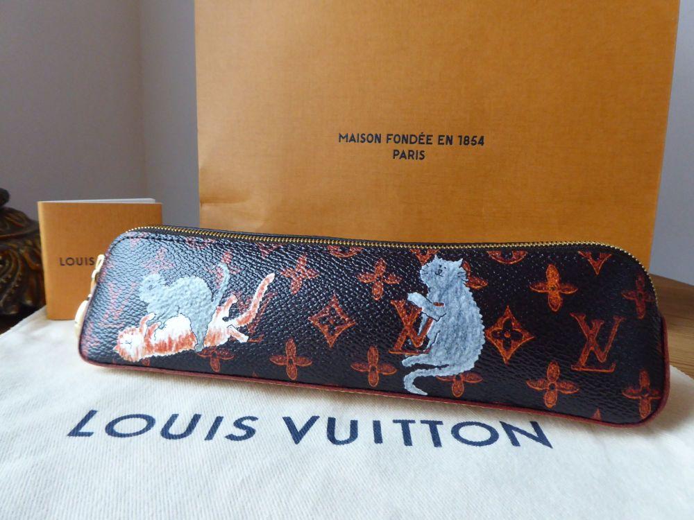 Louis Vuitton Ltd Ed Grace Coddington Cats Catogram Elizabeth Pouch - As Ne