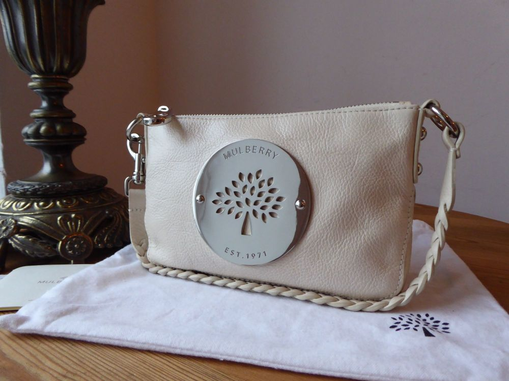 Mulberry Daria Pochette Wristlet in Pear Sorbet Soft Spongy Leather