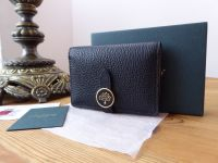 Mulberry Tree Card Wallet in Black Small Classic Grain - New